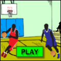 a photo of dividing fractions basketball game