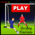 a photo of dividing fractions soccer game