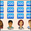 a photo of fractions jeopardy