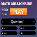 photo of mult fractions millionaire game