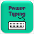 a photo of power typing