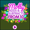 photo of Molly adds and subtracts from 10